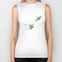 rocket Biker Tanks featuring Rocket by Catru