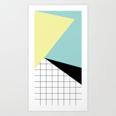 shapes and grid Art Print