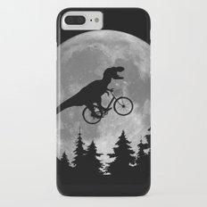 Biker t rex In Sky With Moon 80s Parody iPhone 7 Plus Slim Case