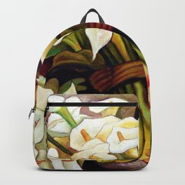 1938 Classical Masterpiece 'Alcatraces Flower Seller' by Diego Rivera Backpack