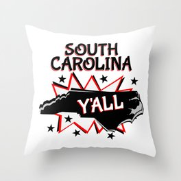 South Carolina State Pride Y'all Throw Pillow
