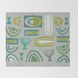 Green bits Throw Blanket