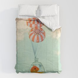 parachute goldfish Comforters