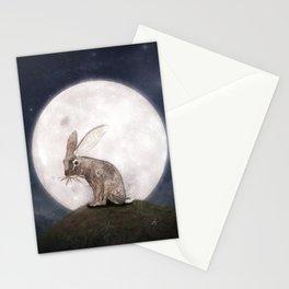 Night Rabbit Stationery Cards