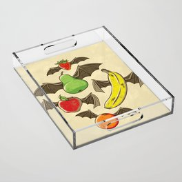 Fruit Bats Acrylic Tray