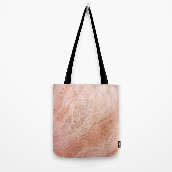 Polished Rose Gold Marble Tote Bag