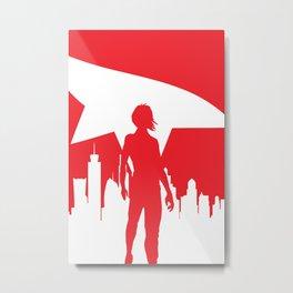 Mirror's Edge Minimalist Poster Metal Print