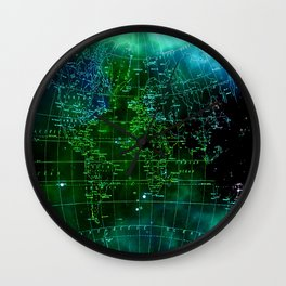 earth map Wall Clock