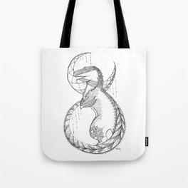 T-Rex Tattoo Lace Tote Bag