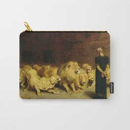 Daniel In The Lions Den 1872 By Briton Riviere Carry-All Pouch
