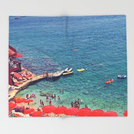 Summers in Capri are what dreams are made of. Throw Blanket