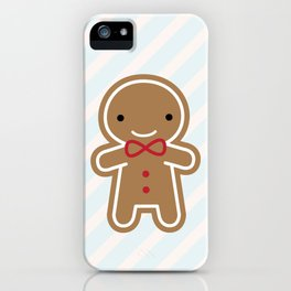 Cookie Cute Gingerbread Man iPhone Case