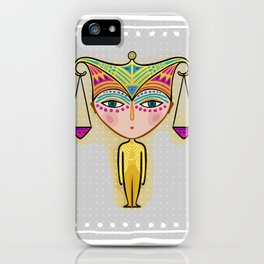 libra zodiac sign iPhone Case