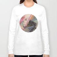aqua Long Sleeve T-shirts featuring Aqua by Madelyne Joan Templeton