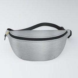 Aluminum Brushed Metal Fanny Pack
