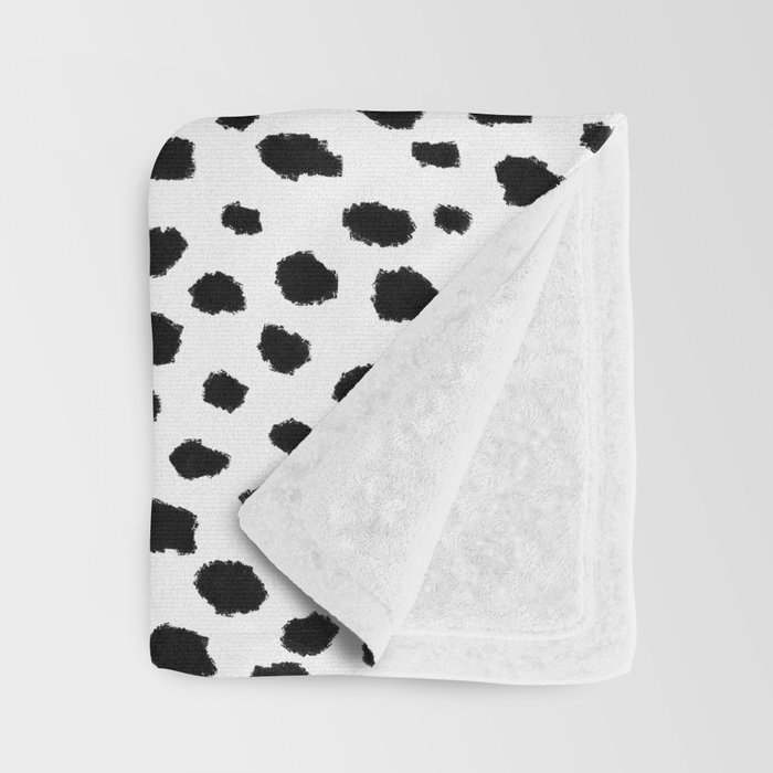 Dalmatian Spots (black/white) Throw Blanket