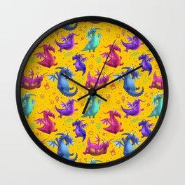 dragons pattern Wall Clock