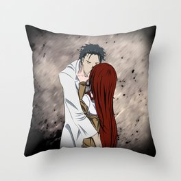Okarin and Kurisu (Steins Gate) Throw Pillow