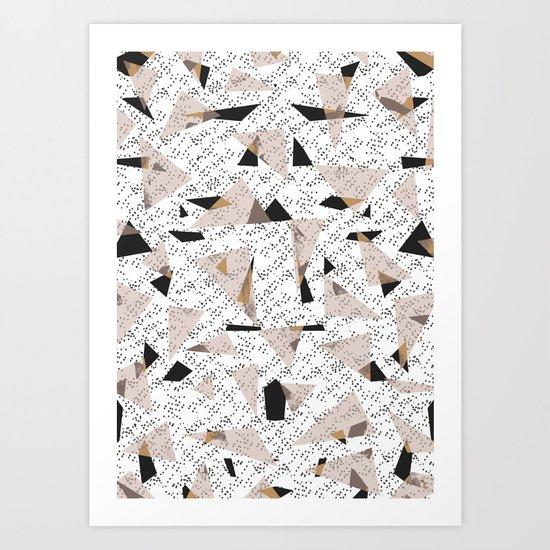 Triangle Mix Art Print