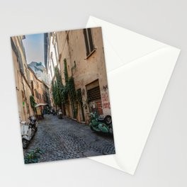 Rome, street with Vespa Stationery Cards