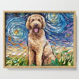 Goldendoodle Night Serving Tray