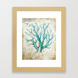 Blue Coral No. 2 Framed Art Print