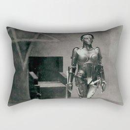 Metropolis poster print vintage photograph science fiction sci-fi cult classic film black and white movie still photograph Rectangular Pillow