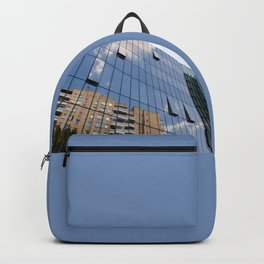 Modern skyscraper with glass wall of windows Backpack