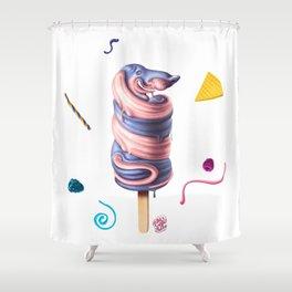 Sausage Dog Summer Flavour Shower Curtain