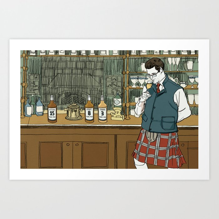 """Whiskey Can't Hide Its Age Either"" by Daniel Zalkus for Nautilus Art Print"