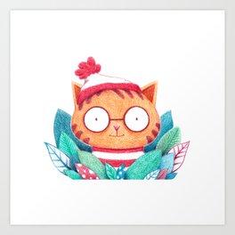 Where's Kitty? Art Print