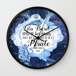 Lila Bard Wall Clock