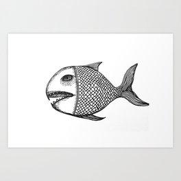ancient fish Art Print