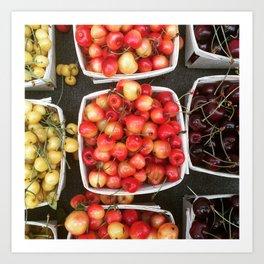 Boxed Cherries New York Art Print