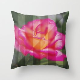 Rose Flower From A New Angle Throw Pillow