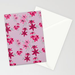 Lilien rosa Stationery Cards