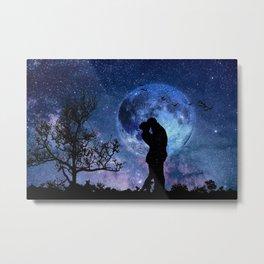 Lovers in the Moonlight portrait Metal Print
