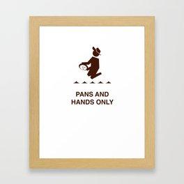 Pans and Hands Framed Art Print