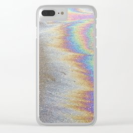Oil Slick Clear iPhone Case
