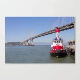 The Red Tugboat Canvas Print