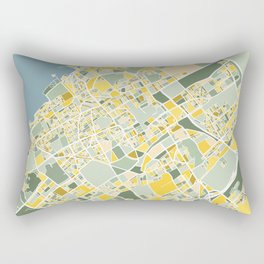 The Hague, The Netherlands, Map Art Rectangular Pillow