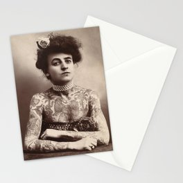 Vintage Photo of Tattooed Woman Maud Wagner, 1911 Stationery Cards