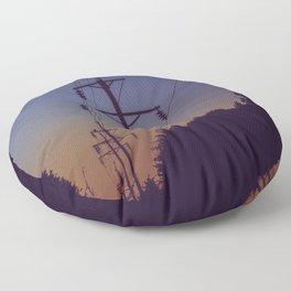 Powerlines Floor Pillow