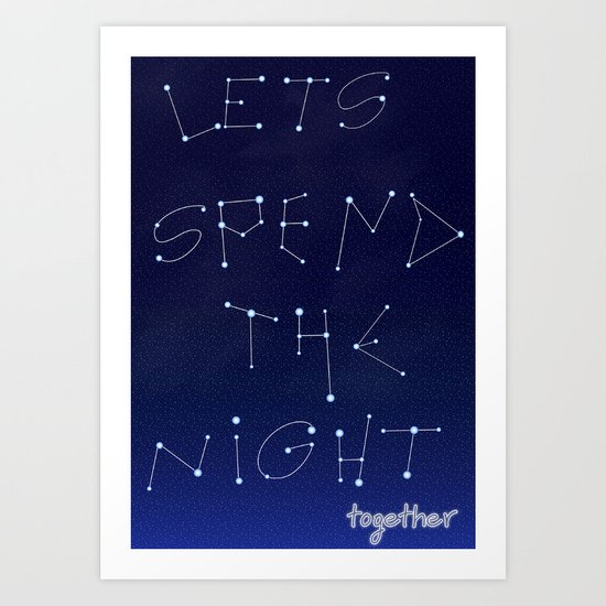 let's spent Art Print