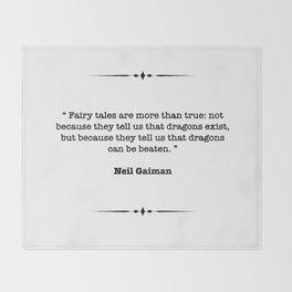 Neil Gaiman Quote Throw Blanket