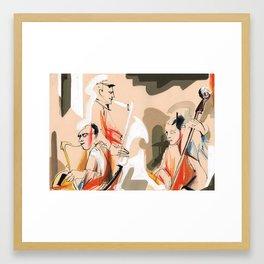 Jazz musicians concert Framed Art Print
