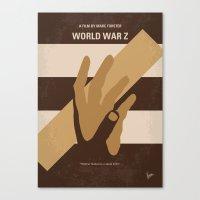 No783 My World War Z minimal movie poster Canvas Print