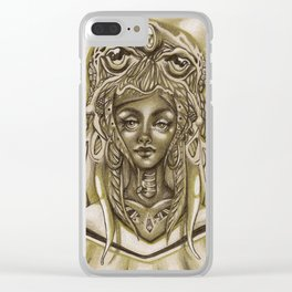 Lady Cthulhu Clear iPhone Case
