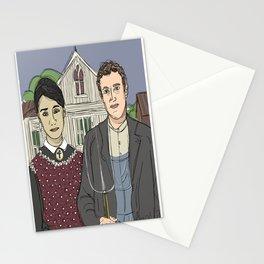 """American Gothic TwentyTwelve"" (ode to Facebook) Stationery Cards"