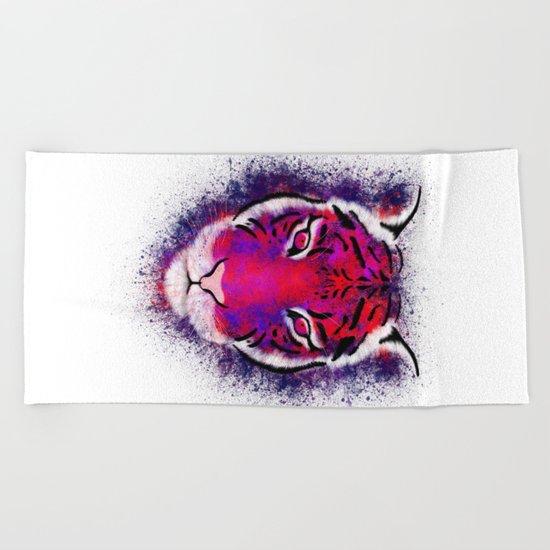 Berry Tiger  Beach Towel